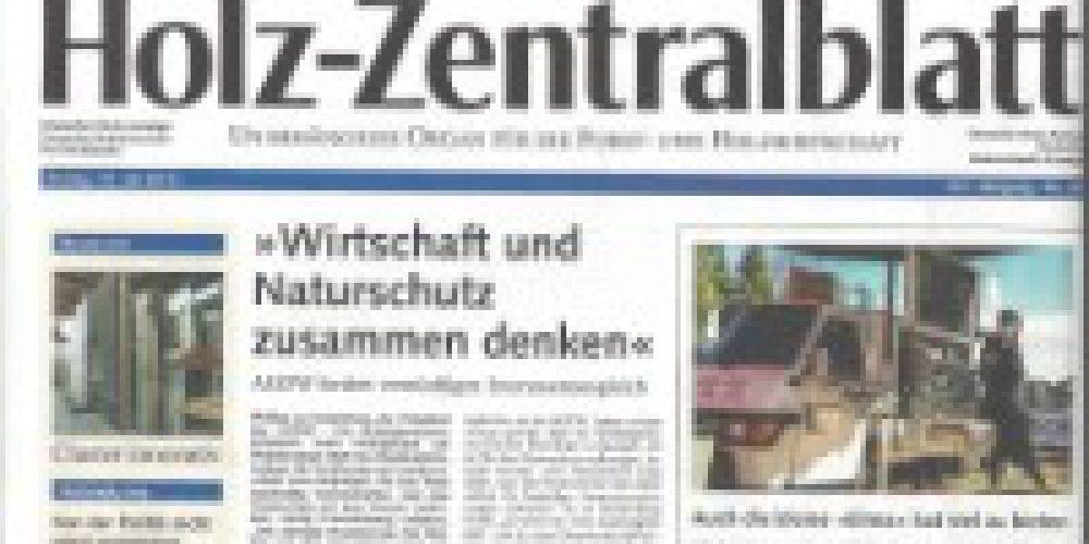 Artikel im Holz-Zentralblatt Nr. 28 / 2015